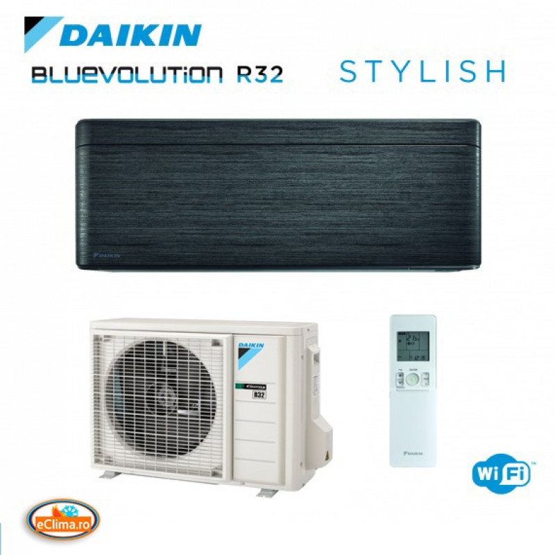 Aparat de aer conditionat Daikin Stylish Blackwood FTXA50BT - RXA50A  Bluevolution Inverter, A+++ ,WiFi inclus 18.000 btu