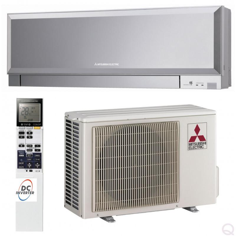 Aer conditionat Mitsubishi Electric 12000 btu MSZ-EF35VGKS + MUZ-EF35VE Inverter ,Wifi inclus , Kirigamine Zen Silver