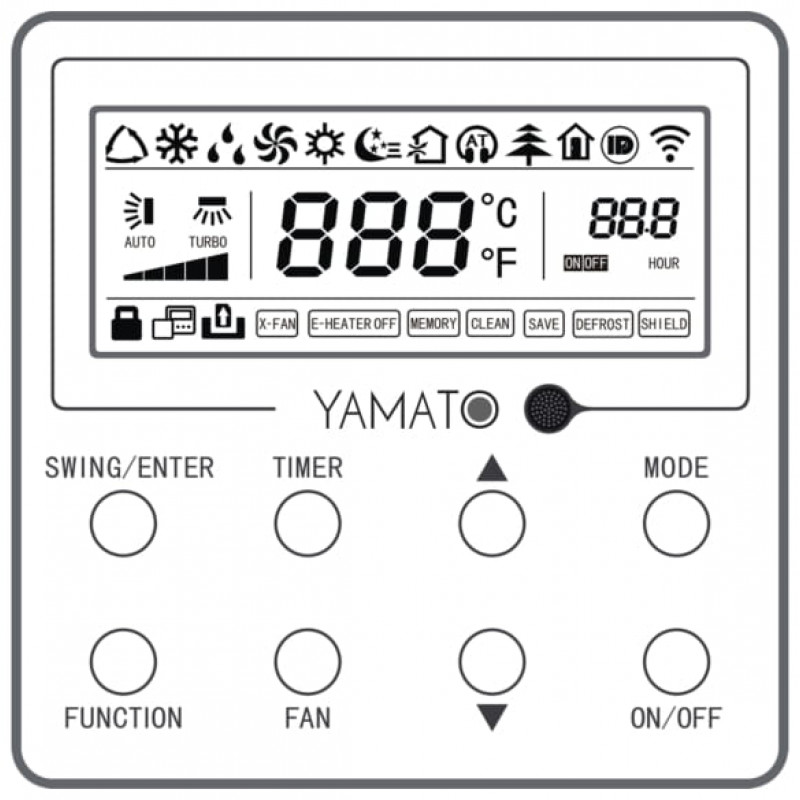 Aparat de aer conditionat  Yamato Tip Duct   R32 YD12IG3 Inverter 12000 Btu